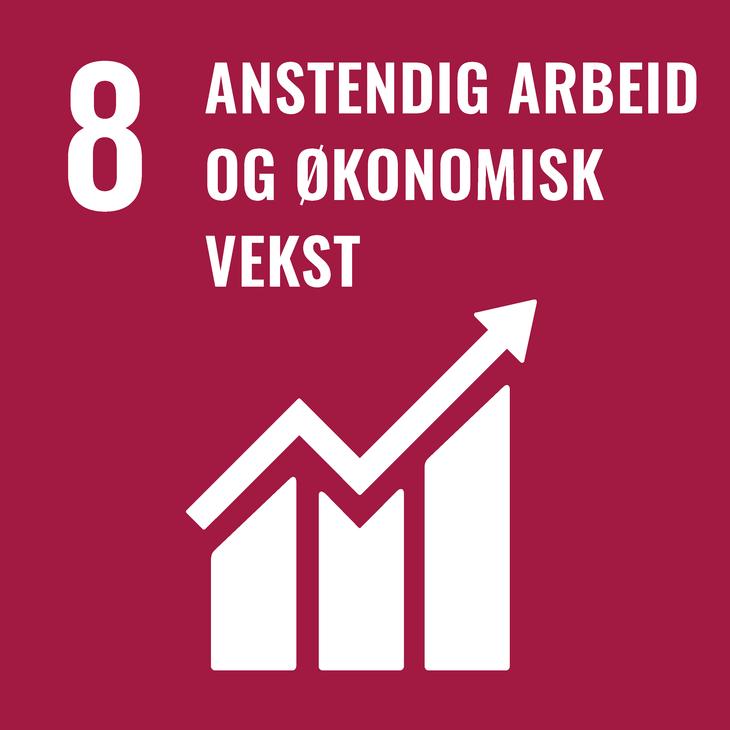 - Fremme varig, inkluderende og bærekraftig økonomisk   vekst, full sysselsetting og anstendig arbeid for alle