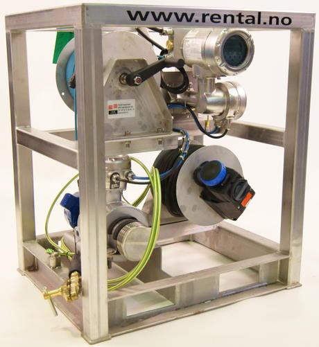 Et Elektromagnetisk flowmeter kalibrert og klart for utleie