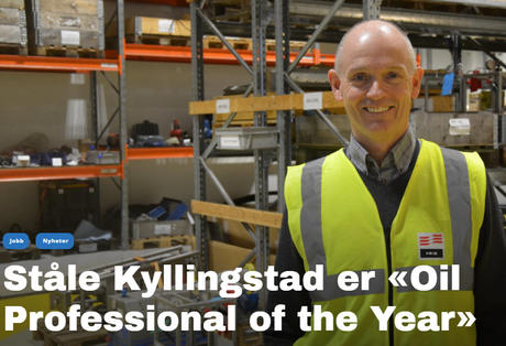 Ståle er «Oil Professional of the Year»