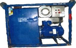 Hot oil flushing unit