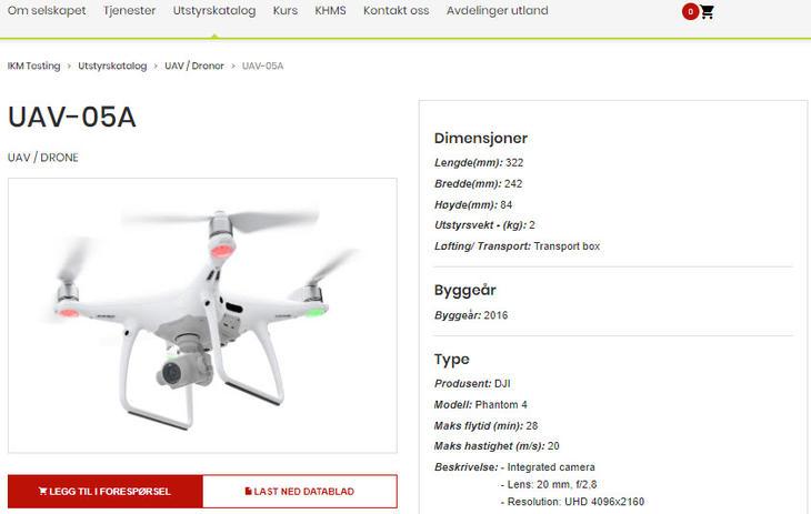 Søkbar produktkatalog_droner